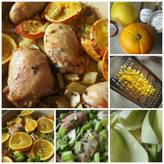 Sangria Chicken - Result + cooking stages