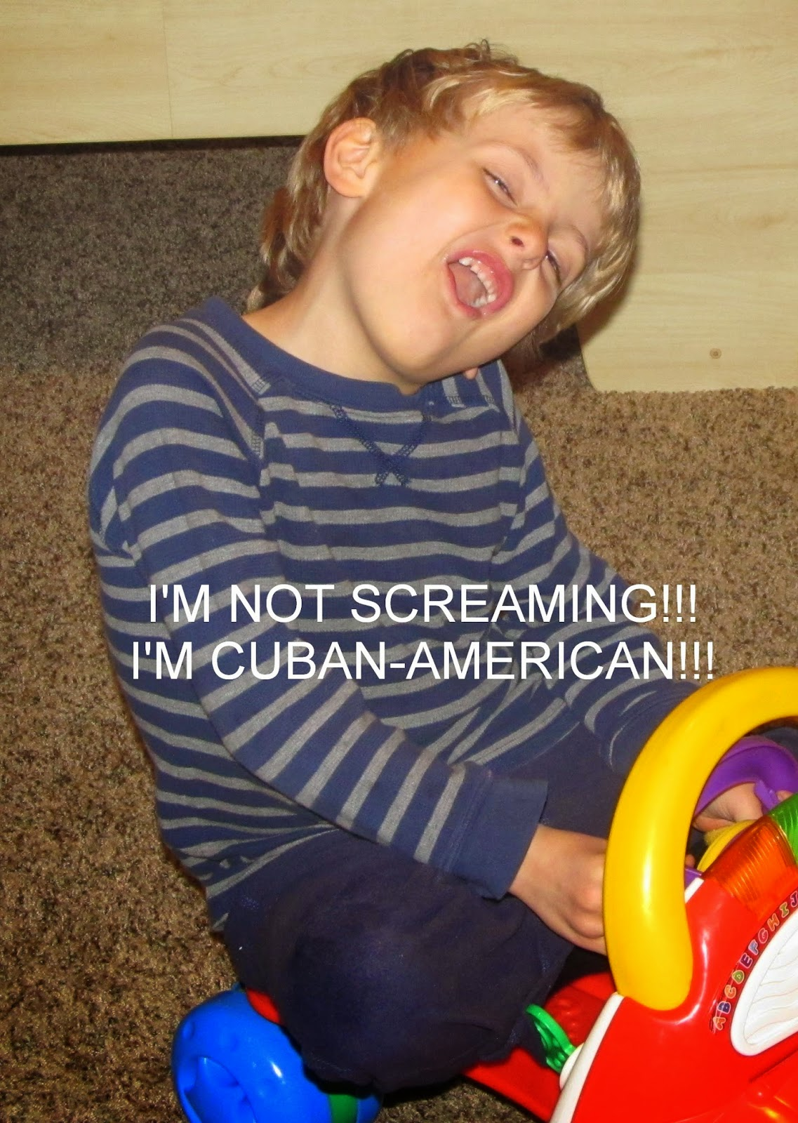 I'm not screaming!!! I'm Cuban-American!!! meme