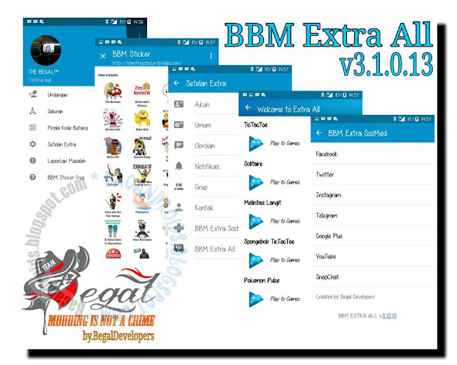 BBM Mod Multi Extra All Plus plus Official Theme v3.1.0.13 Apk terbaru