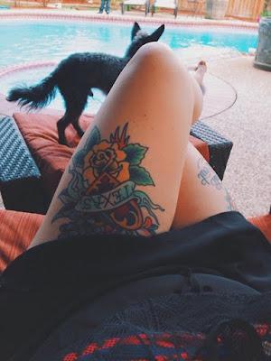 Tatuajes de Mujeres en la Pierna