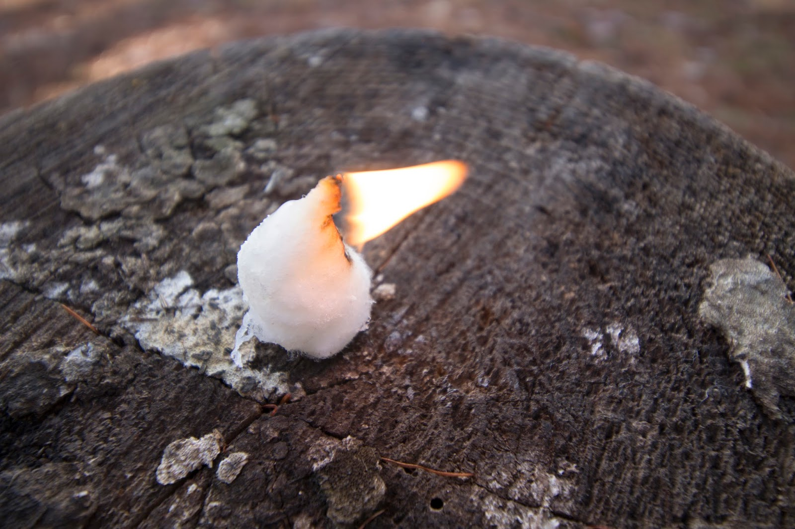 Cotton ball burns slow now