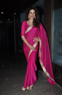 Actress Shraddha Das Stills in Pink Saree at Savitri Audio Launch  0042.jpg