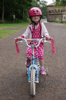 Eldest riding her bike