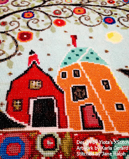 Modern cross stitch kit
