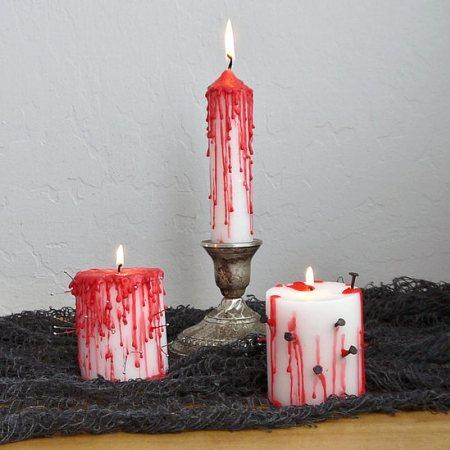 Velas sangrientas de Halloween, para decorar tu hogar