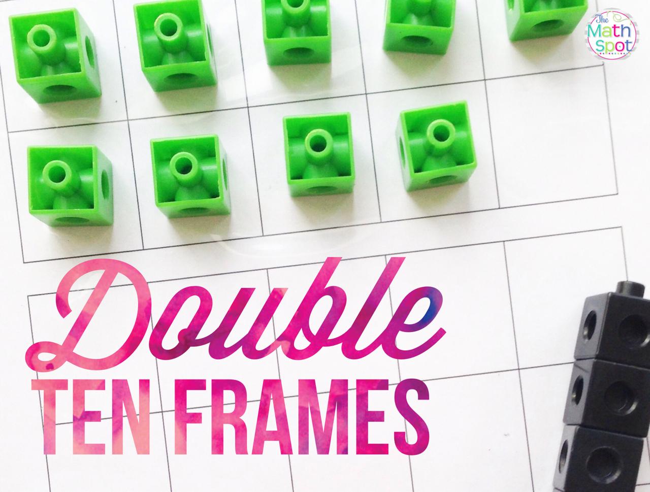 medium resolution of Double Ten Frames - The Math Spot
