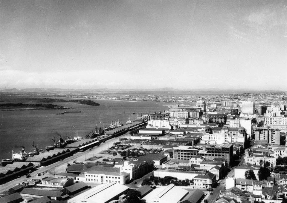 Avenida Mauá e Cais do Porto de Porto Alegre, 1940