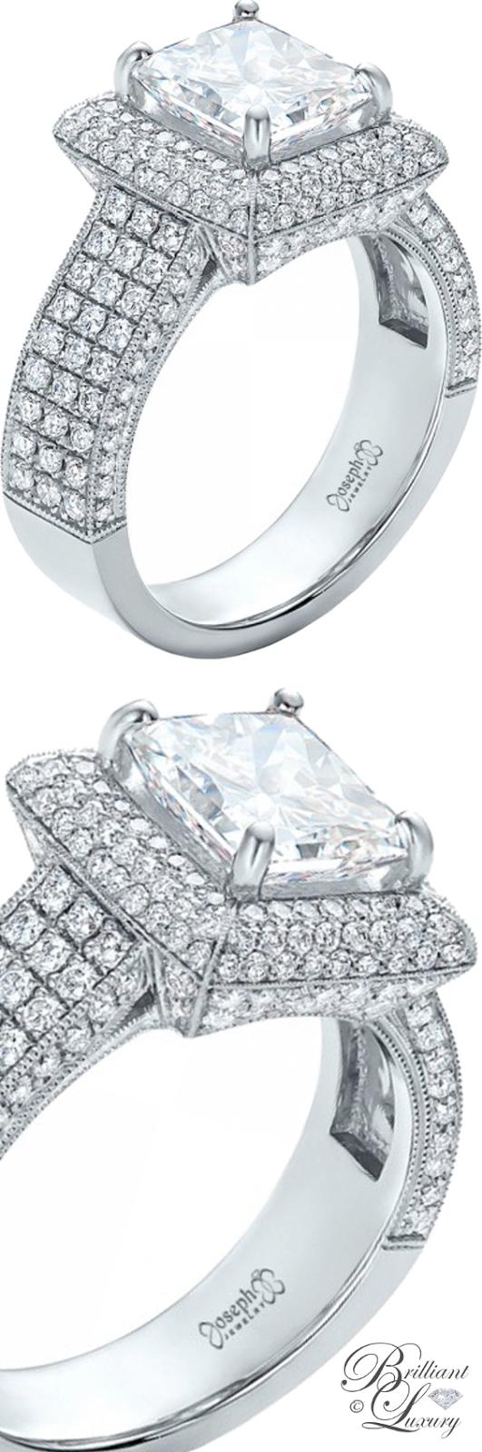 Brilliant Luxury ♦ Custom Micro-Pave Halo Diamond Engagement Ring