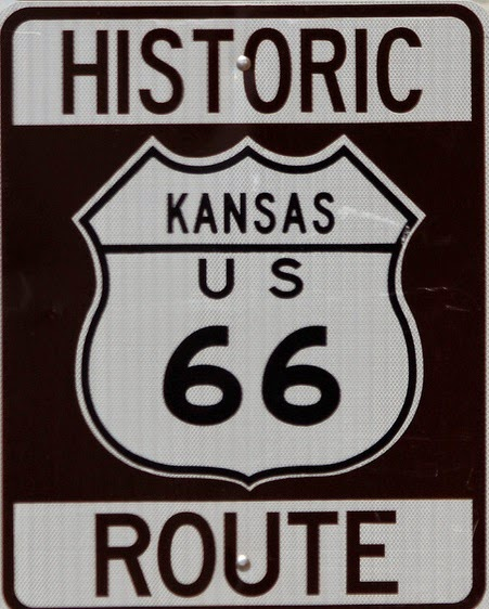 kansas route 66 sign