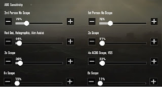 Coffin sensitivity settings - Camera