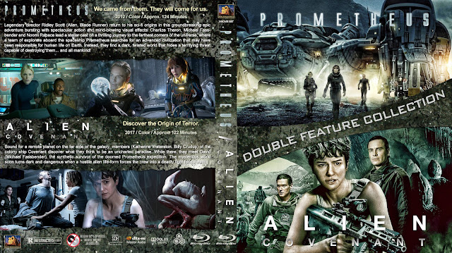 Prometheus / Alien Covenant Collection Bluray Cover