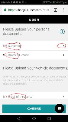 daftar pemandu driver uber