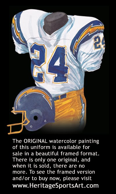 98f1e2601 San Diego Chargers Uniform and Team History