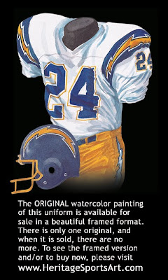 San Diego Chargers 1981 uniform