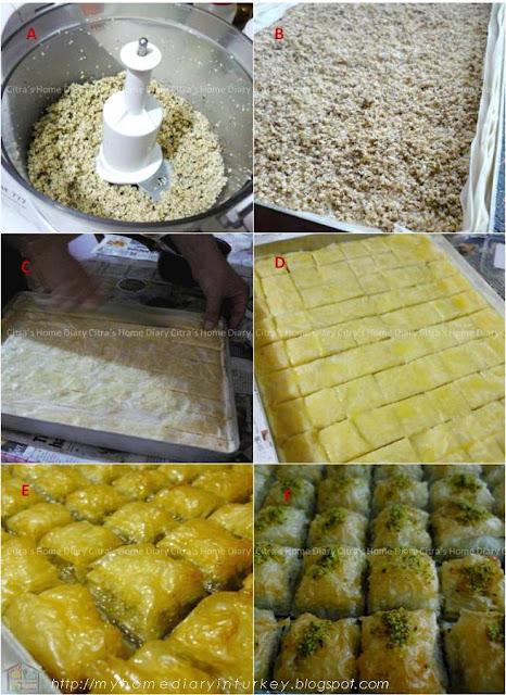 Definisi baklava sendiri adalah sejenis pastry manis yang terbuat dari berlapis lapis lembaran pastry phyllo yang tipis dengan taburan -umumnya walnut dan/ atau pistasio, hazelnut atau almond diantara beberapa lapisannya. Dan direndam dalam sirup gula yang kental atau madu. Ada juga jenis lain yang disiram susu (sütlü nuriye baklava).