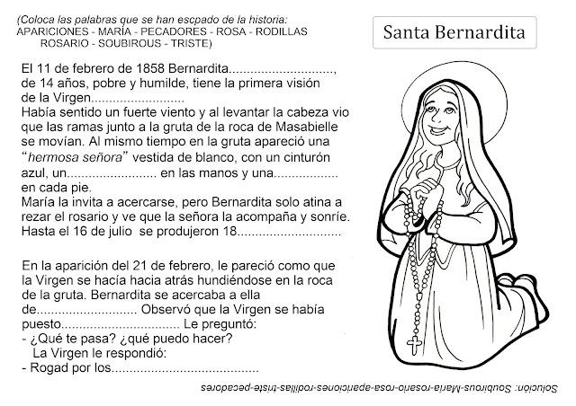 Resultado de imagen para Santa Bernardita en comic