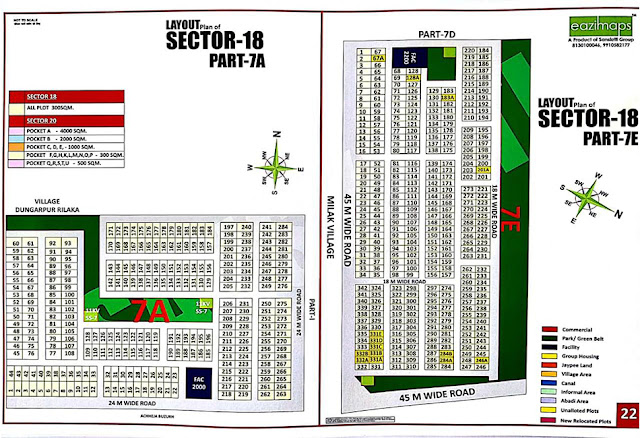 Layout Plan of Sector-18 7A,7E Yamuna Expressway Authority