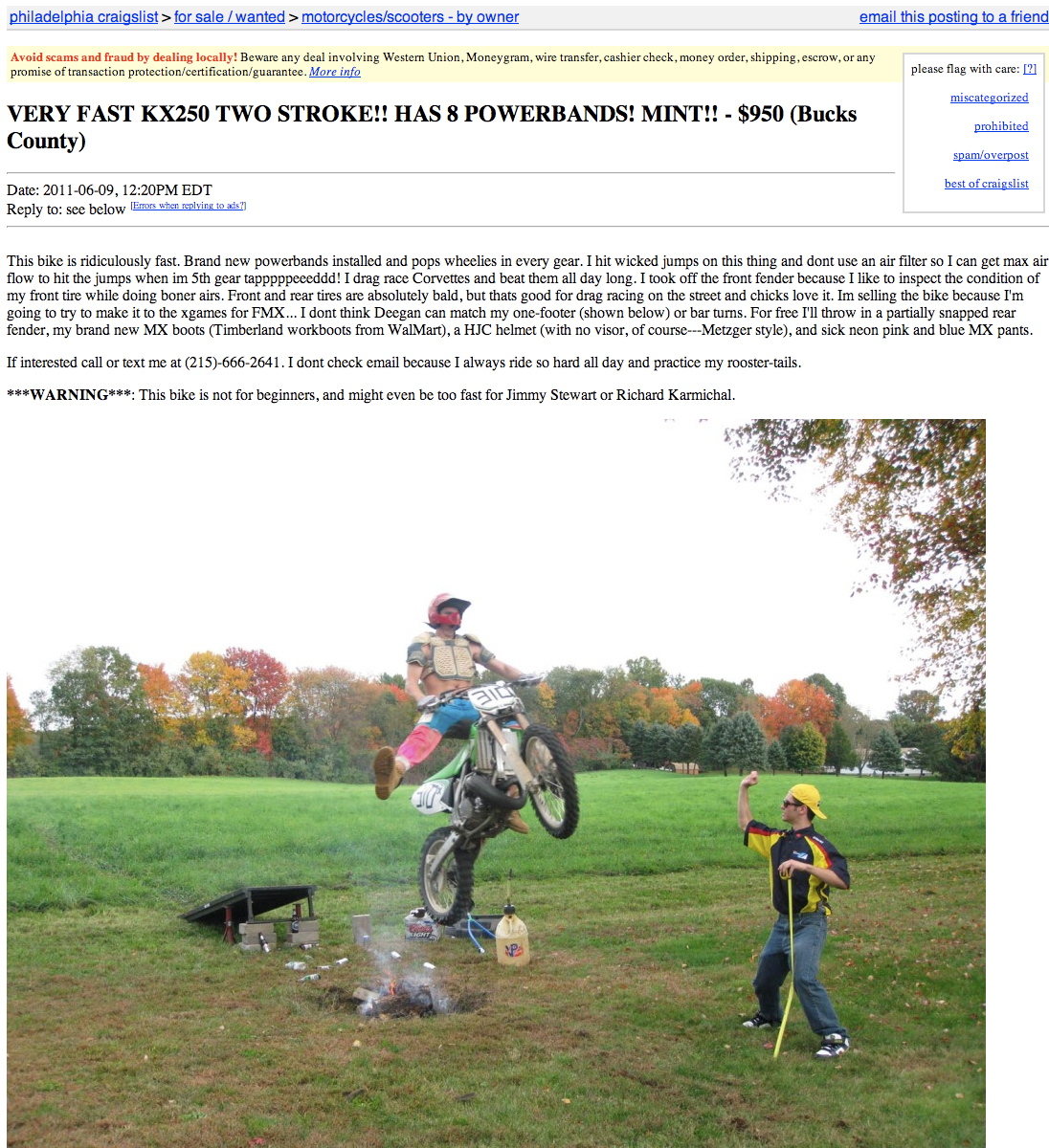 Craig's List SNAFU's [Archive] - Page 6 - Beginnerbikers org