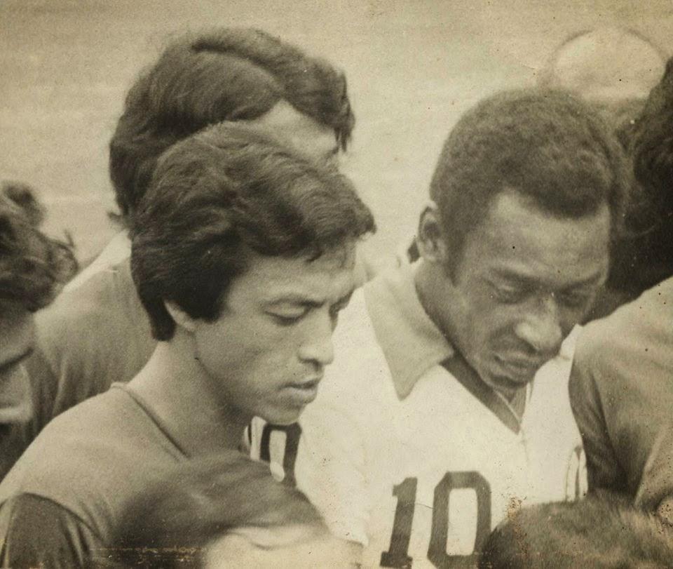Shyam Thapa with Pelé