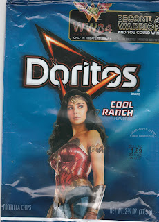 Small bag of Wonder Woman 1984 Cool Ranch Doritos