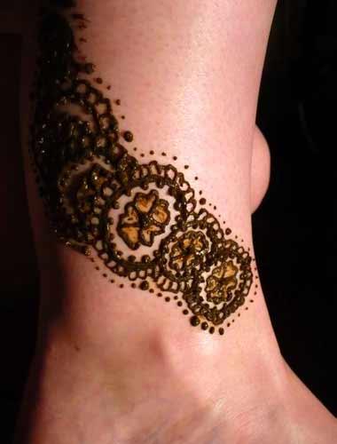 Henna Anklet Designs   makedes.com