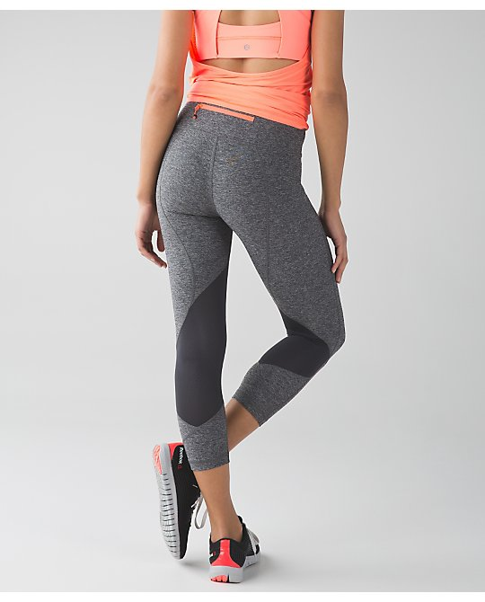 lululemon  heathered-black-pace-rival flare