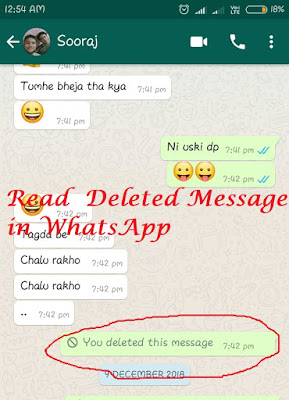 Recover Deleted Message in WhatsApp
