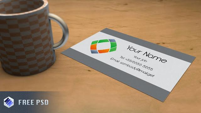 Business Card Mock-Up Template PSD