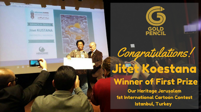 "Jitet Koestana Winner of First Prize ""Our Heritage Jerusalem"" International Cartoon Contest Turkey"