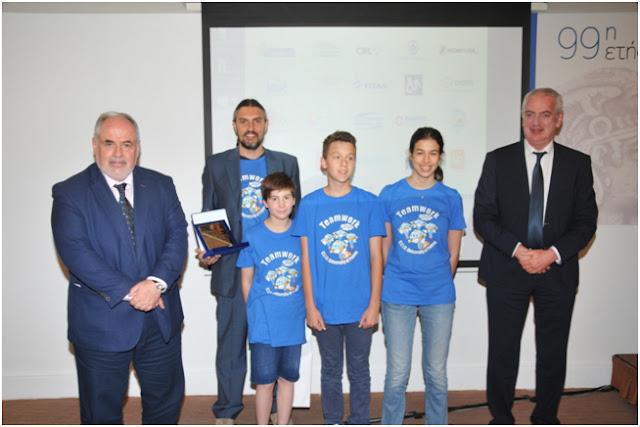 Τιμητική διάκριση από τον Συνδέσμο Επιχειρήσεων και Βιομηχανιών Πελοποννήσου και Δυτικής Ελλάδος σε μαθητές για την 3η θέση στον διαγωνισμο ρομποτικής