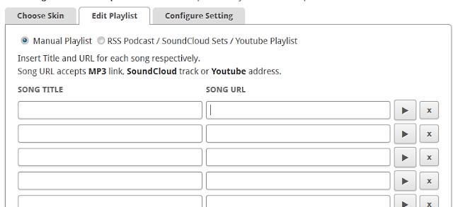 edit playlist scm player