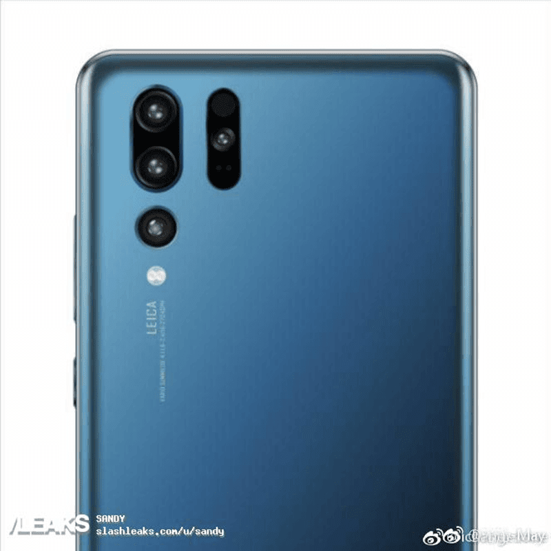 Huawei P30 Pro's alleged render shows a weird looking rear quad-camera setup