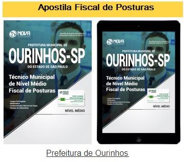 Apostila concurso Prefeitura de Ourinhos SP Fiscal de Posturas