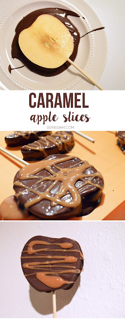 cut apples for easy caramel apple slices!!