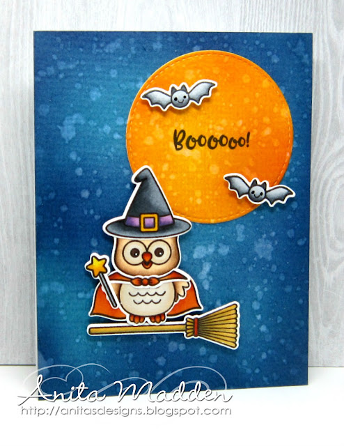 Sunny Studio Stamps: Happy Owl-o-ween and Missing Ewe Halloween Cards by Anita Madden