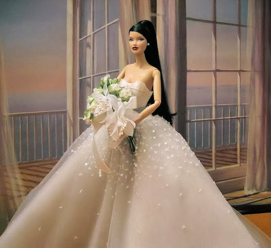 Vestidos de noiva para Barbie - Bridal dresses for barbie dolls - Para inspirar nossas criações3