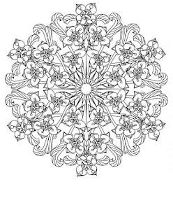 Flowers mandala coloring pages