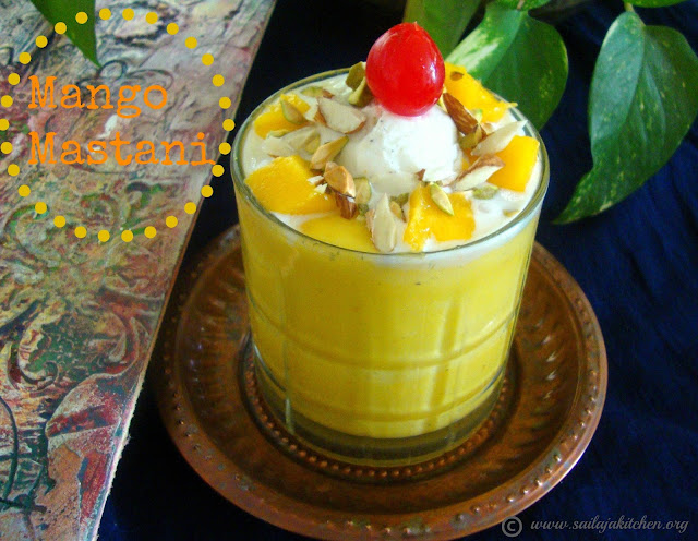 images of Mango Mastani Recipe / Mango Mastani Drink - A Summer Special Drink