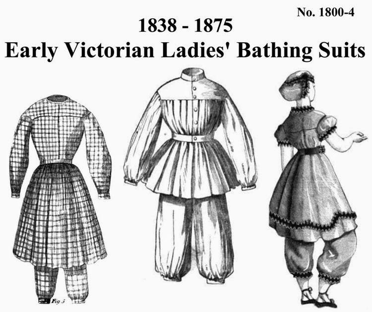 Victorian Bathing Suit Pattern by The Mantua-Maker