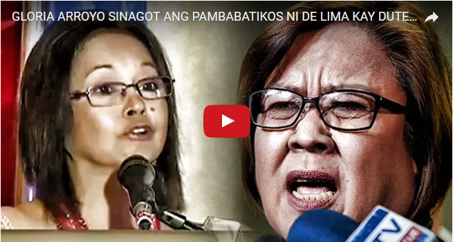 """2tCaKey GLORIA ARROYO SLAMS DE LIMA : """"WE JUST TRUST THE PRESIDENT BEC. HE KNOWS WHAT WE DON'T KNOW AND HE KNOWS WHAT HE'S DOING""""...PANOORIN!"""