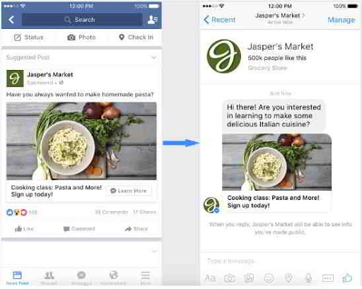 Publicidad en Messenger - MasFB