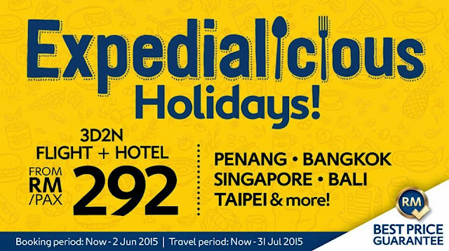 Expedialicious Holidays Sale @ www.expedia.com.my/expedialicious