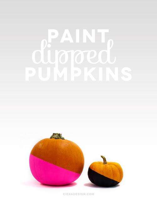 Paint Dipped Pumpkins | 5 Ideas for People Who Don't Carve Pumpkins!  #halloween #pumpkins #noncarvepumpkins #paintpumpkins #diy #holiday