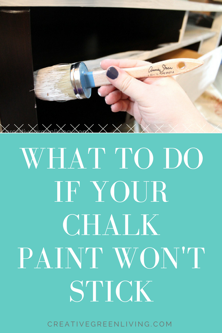 Need help troubleshooting your chalk paint? Here is what to do if your chalk paint won't stick or if you have problems with the furniture you are painting repelling the paint.