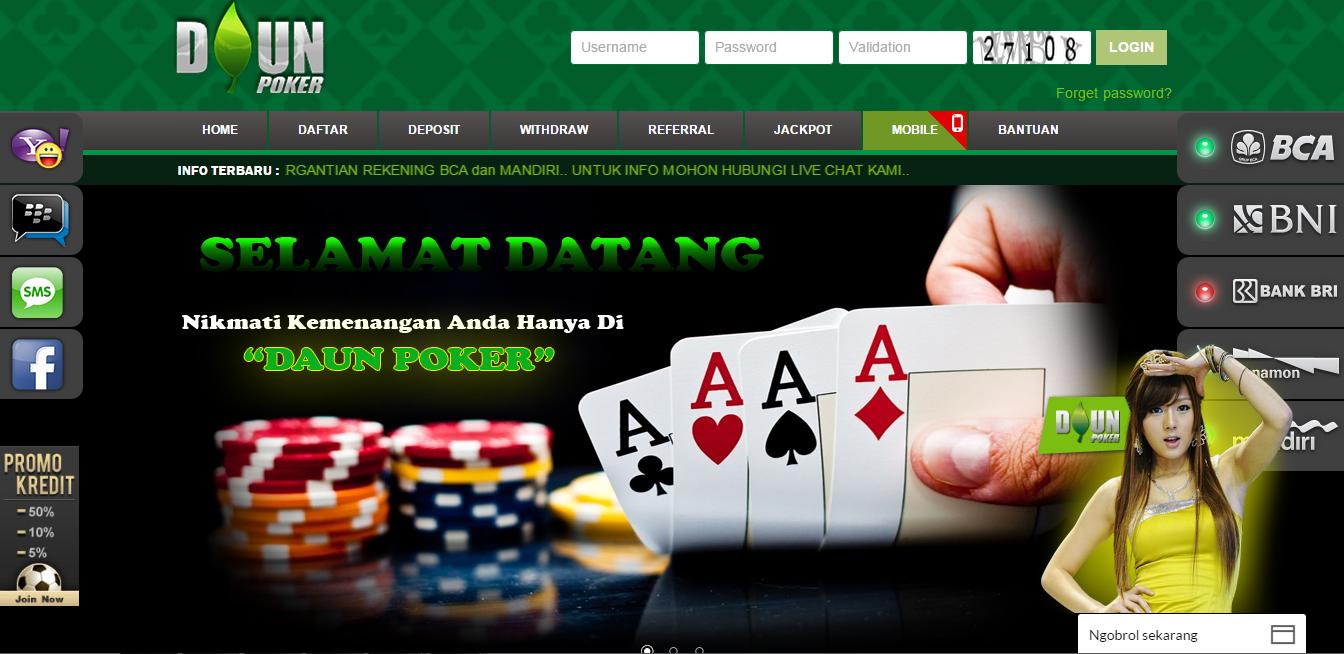 Daunpoker.Org Situs Judi Agen Poker Online Terpercaya