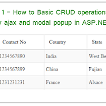 Part 2 - How to Basic CRUD operations using Jquery ajax and