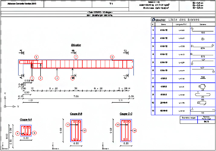 feuilles excel calcul b ton arm selon bael91 mod99. Black Bedroom Furniture Sets. Home Design Ideas