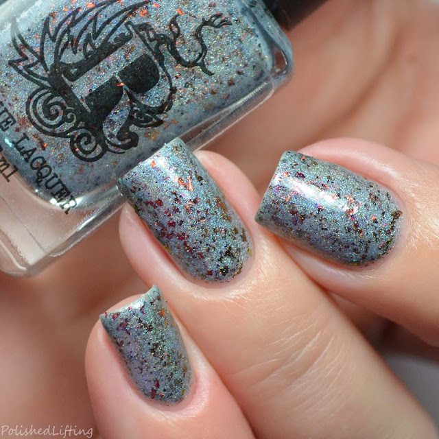 icy blue holographic nail polish