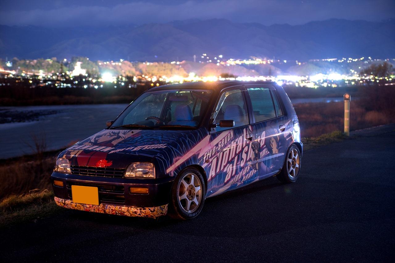 Suzuki Alto, japońskie miejskie samochody, fotki, nocne