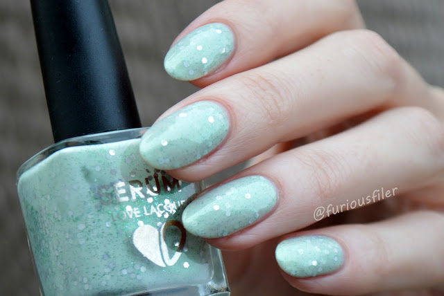 serum no.5 mint to be swatch crelly indie polish